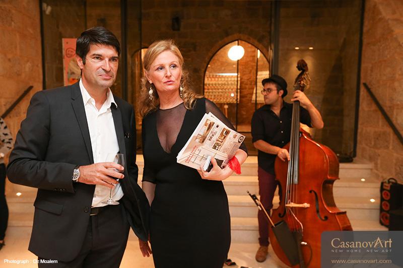 L'ambassadeur de France en Israel Patrick Maisonnave et Dalia Chiche Architecte